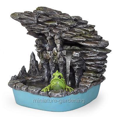 Miniature Dollhouse FAIRY GARDEN Ocean ~ MINI Purple MERMAID LAGOON on Rock