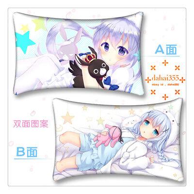 Bedding 35*55cm #N44 Cushion Dakimakura Pillow Case Anime Isthe order rabbit