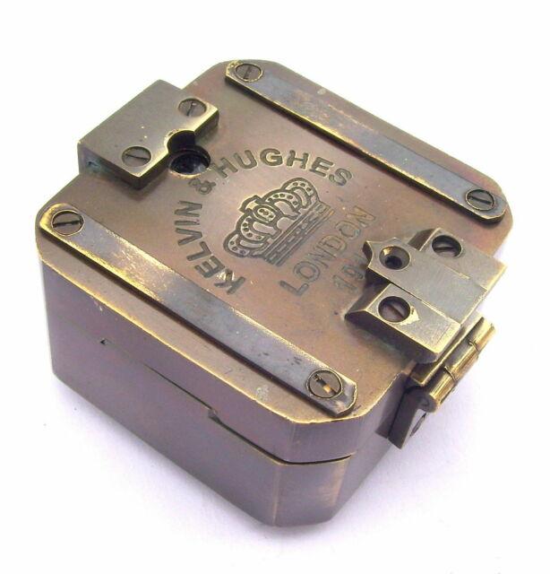 SOLID BRASS KELVIN /& HUGHES 1917 BRUNTON COMPASS//ANTIQUE COMPASS//VINTAGE COMPASS