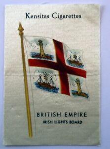 Kensitas-Cigarettes-British-Empire-Irish-Lights-Board-Silk-Patch-Advertising