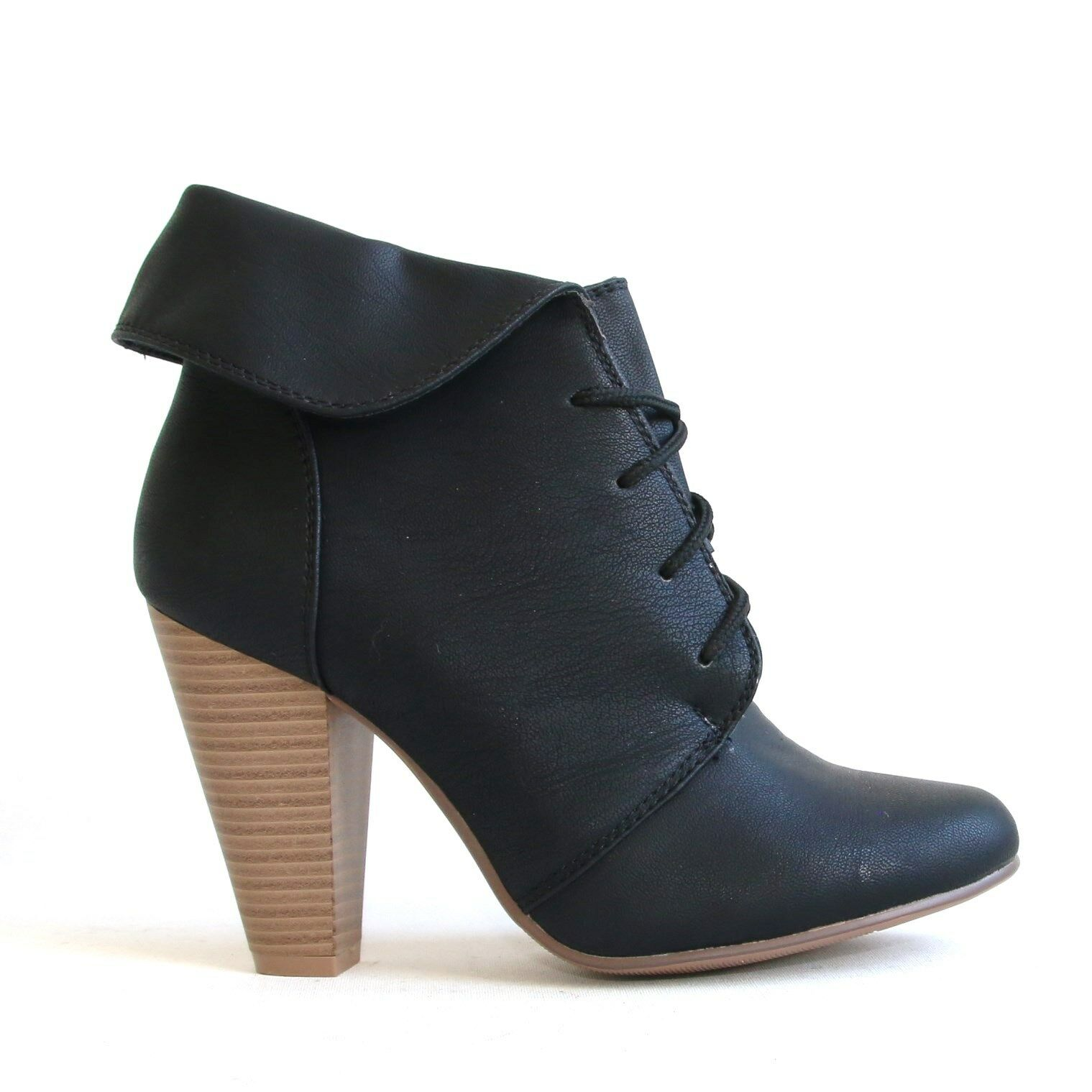 Stiefeletten Schwarz 38 Damenschuhe Halbschuhe Boots Pumps High heels  9639A-