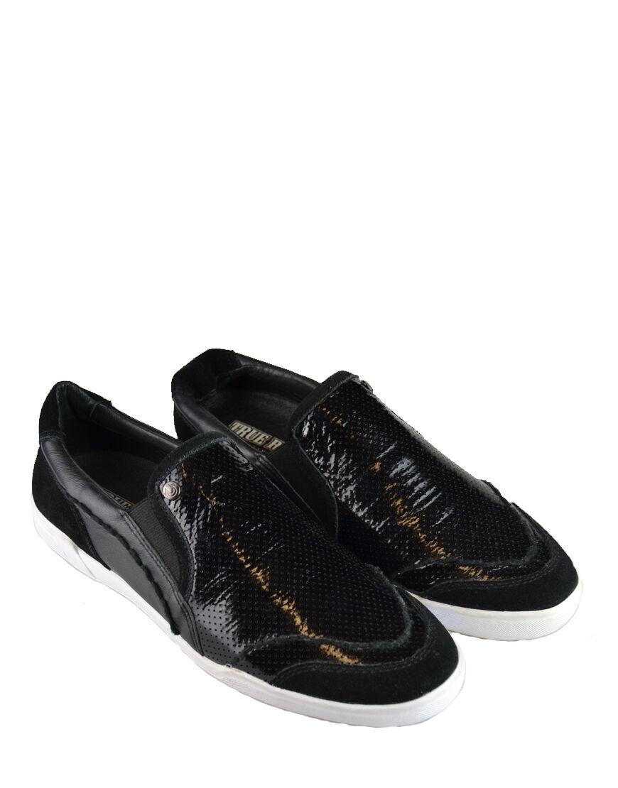 johnny la les vraie religion les la chaussures à enfiler Noir  (trfw001a) e5ed1c
