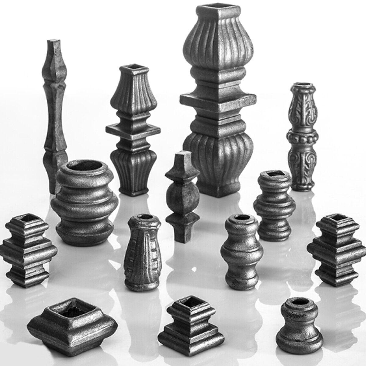 STAL Schmiedeelement  Quadratbohrung oder Rundbohrung für Zaunstäbe Stahl 01-012
