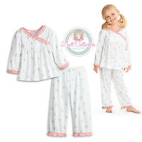 American Girl Cl Bitty Baby Cuddly Star Pajamas Size S (3) For Girls