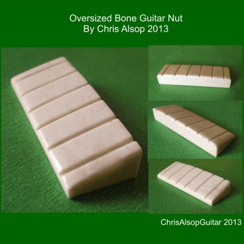 width Oversized Bone Guitar Nut over 52mm width PN007 You give height length