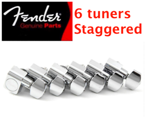 tele logo Mécaniques FENDER USA 6 en ligne 0990820100 staggered guitare strat