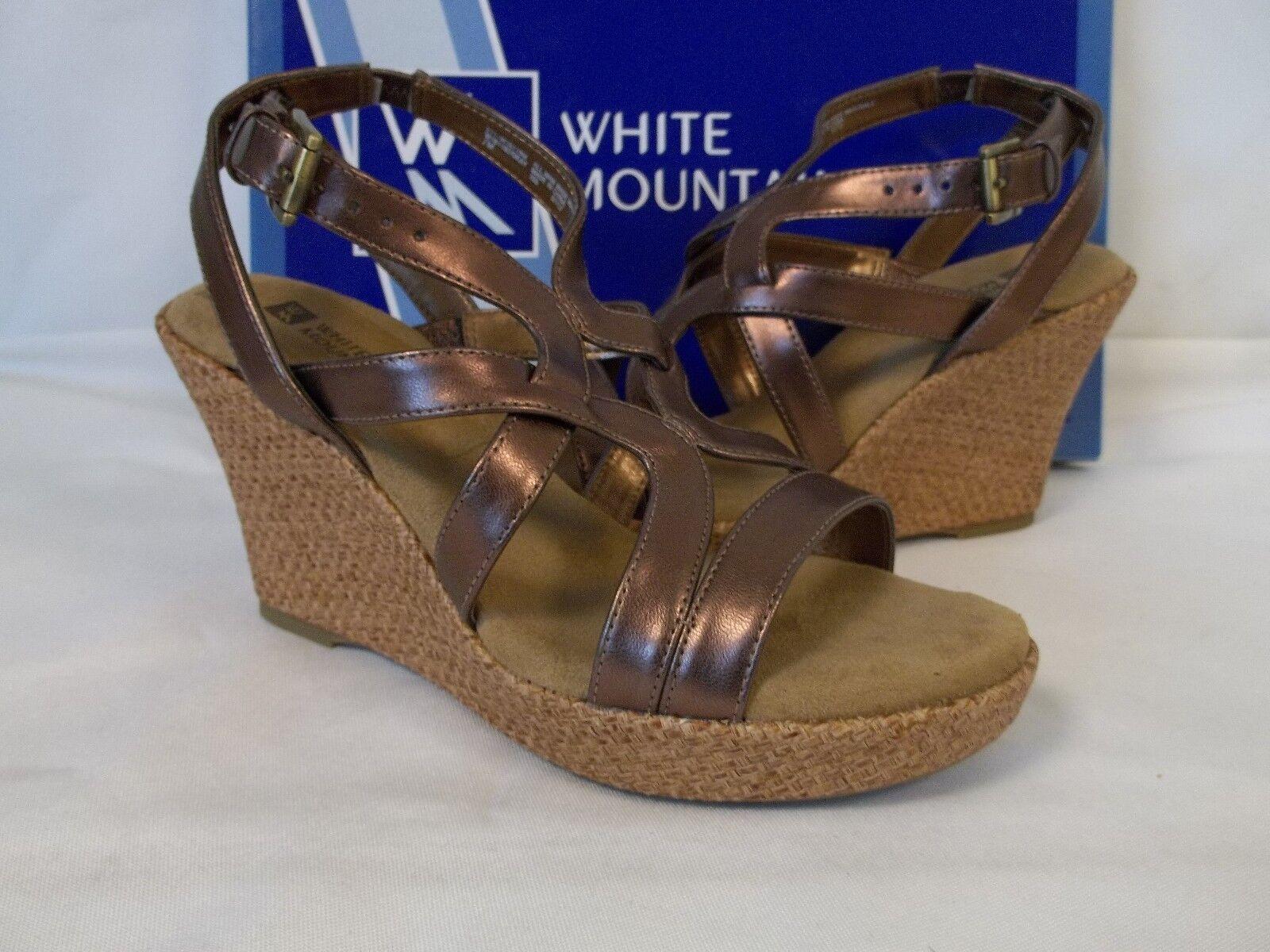 WEISS Mountain 7 M Okay Chocolate Open Toe Wedges NEU Damenschuhe Schuhes