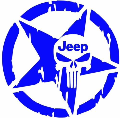 JEEP STAR Punisher DECAL Blackout Oscar Mike CAR TRUCK WRANGLER 10 COLORS