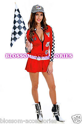 J75 Sexy Miss Indy Super Car Racer Racing Sport Driver Grid Girl Fancy Costume