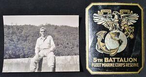 WWII-Photo-and-Decal-USMC-Captain-Nagasaki-Japan-1945