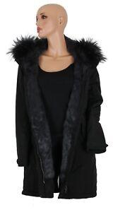 Basler-Women-039-s-Jacket-Parka-Finn-Raccoon-Rabbit-Black-Gr-38