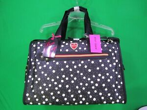 Betsey-Johnson-034-Dots-034-Weekender-Duffel-Travel-Bag-Brand-New-with-Tags