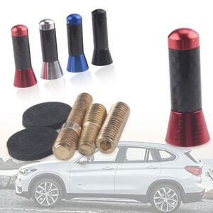 Red-Car-Carbon-Fiber-Short-Aerial-Bee-Sting-Mast-Antenna-Ariel-Arial-Stubby-Deco