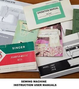 Genuine Sewing Machines Instruction Manual - PDF File Format Only