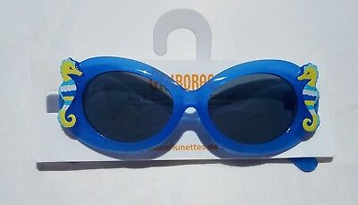 GYMBOREE SEA SPLASH BLUE SHELL GLITTER SUNGLASSES 0 2 3 4 5 6 NWT
