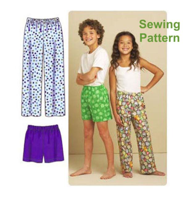 Kwik Sew K3589 Sewing Pattern Childs Boys/girls Pyjama Trousers ...