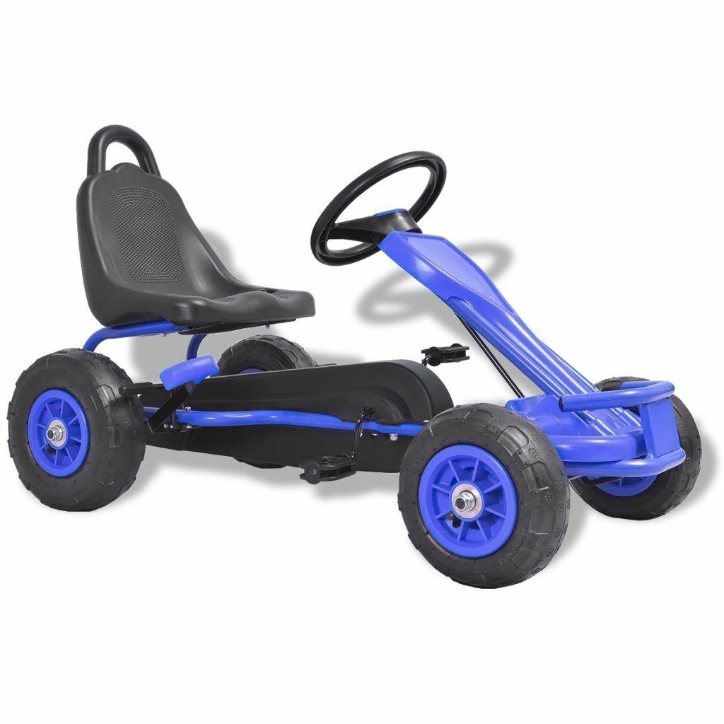 VidaXL Kart à Pédales Voiture avec Pneus pour Enfants Filles Garçons Bleu