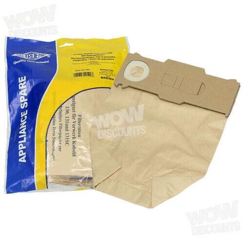 Folletto Electruepart Vorwerk Kobold Vacuum Dust Bags Pack of 6