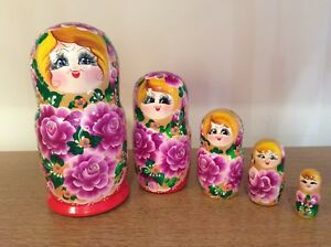 Desirable Russian Nesting Dolls 5 set - Matryoshka - Babushka
