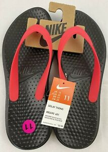 Details about Nike Solay Thong Flip Flops Sandals Mens Size 11 Red Black NWT