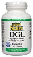 Dgl Licorice Chewable Tablets Natural Factors 90 Tabs