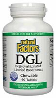 Dgl Licorice Chewable Tablets Natural Factors 90 Tabs