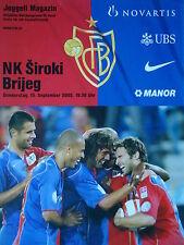 Programm UEFA Cup 2005/06 FC Basel - NK Siroki Brijeg