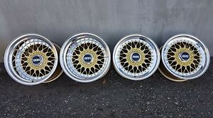 BBS-RS-070-114-15-034-7-11J-4x100-BMW-E21-E30-Wide-Body-Alloy-Wheels-Rare-Genuine