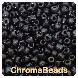 100g-NEGRAS-OPACAS-LUSTERED-cristal-semilla-cuentas-a-elegir-talla-6-0-8-0-11-0