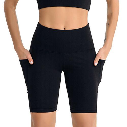 Women Compression Yoga Shorts High Waist Running Sports Hot Pants Cycling Biker