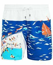 $85 NWT Polo Ralph Lauren Cruise Ship Swim Trunks Sz L Mesh Lined Shorts Blue