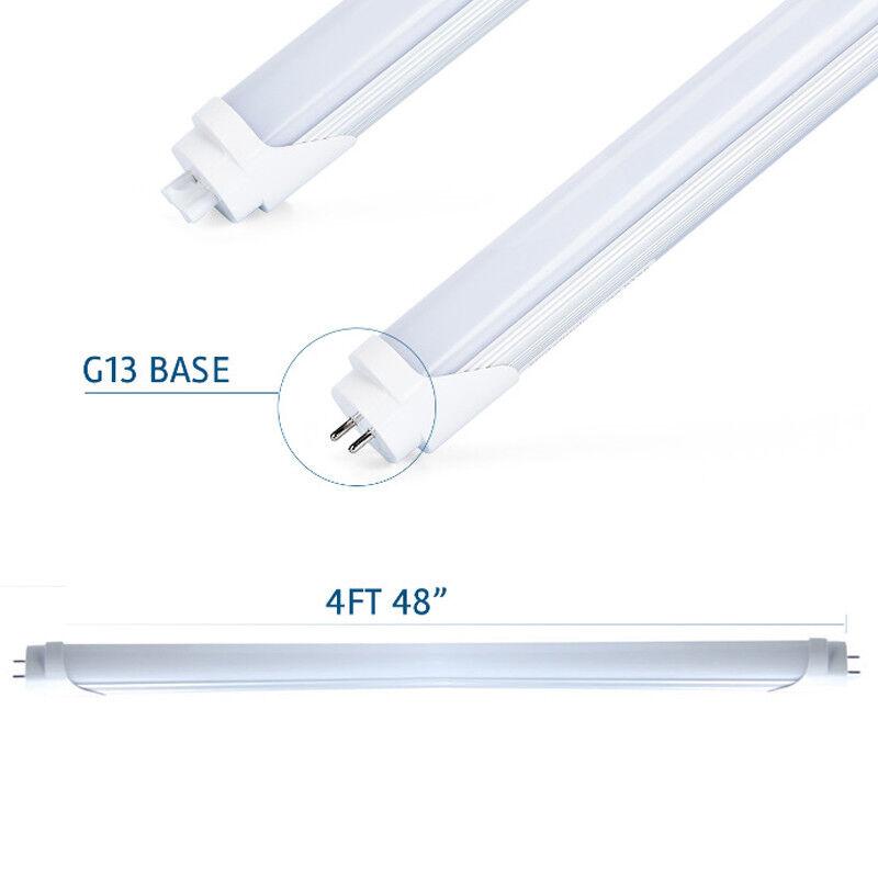 4X T8 G13 4FT 24WT CLEAR LENS 6500K FLUORESCENT REPLACEMENT LED TUBE LIGHT EK
