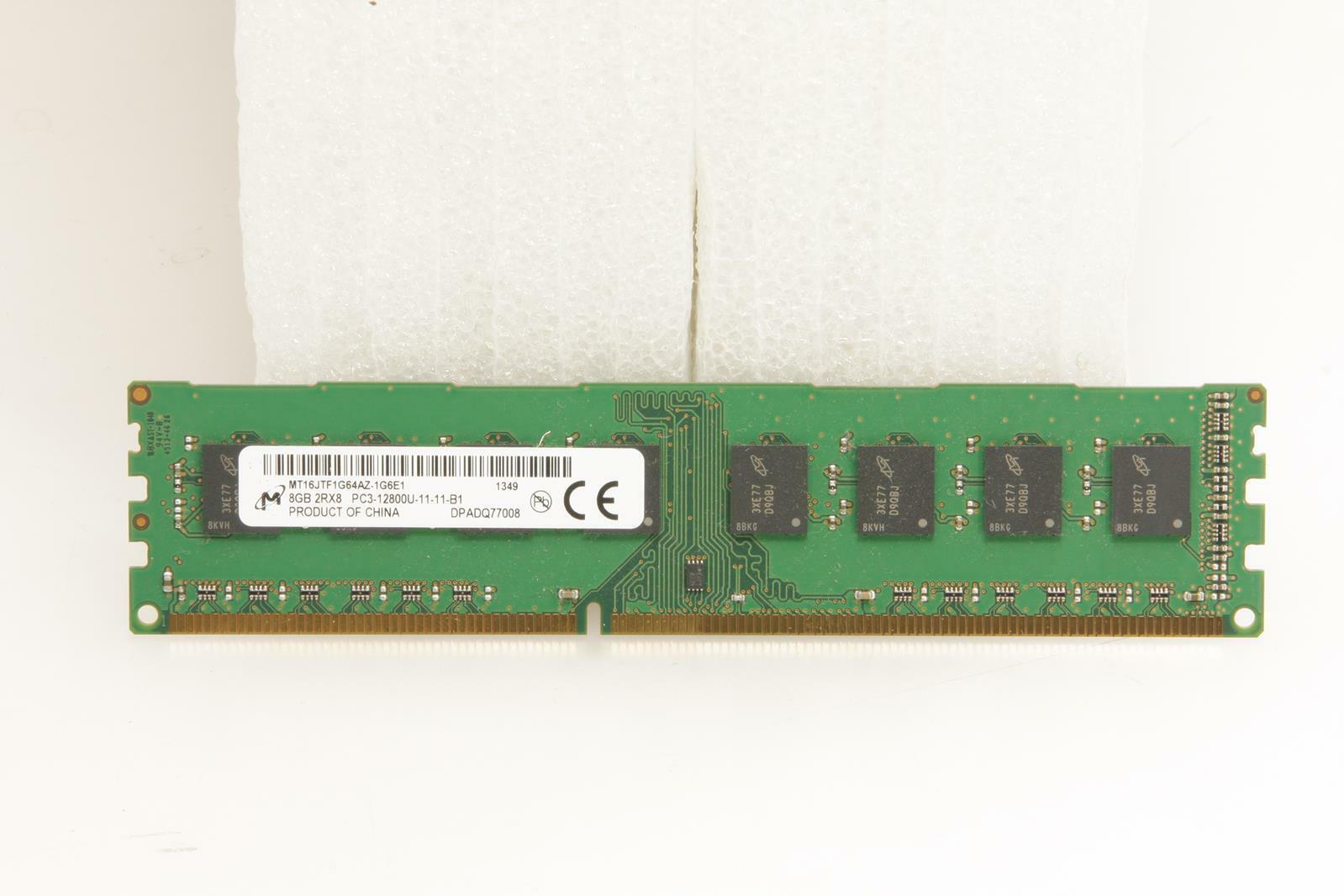 Memory//RAM MICRON 8GB 1x8GB DDR3-1600 MT16JTF1G64AZ-1G6E1 DIMM Desktop 240pin
