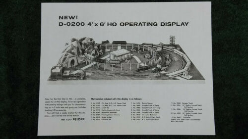 "4/' x 6/' /""HO/"" LAYOUT INSTRUCTION PHOTOCOPY LIONEL D-0200 DEALER DISPLAY"