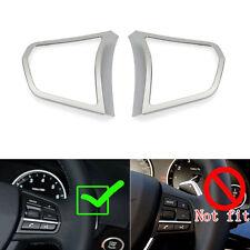 2x Auto Silver Steering Wheel Switch Decor Trim For BMW 5 Series F10 520 528 535