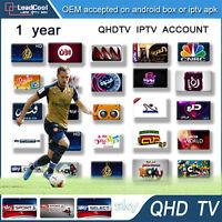 12 Months QHDTV Smart IPTV TV Subscription 1300+ Channels 2000+ VOD