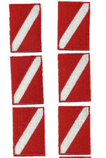"""SCUBA PATCH -DIVE FLAG PATCH - 1"""" X 1.5"""" -  STICK ON BACKING -  6 patches"""