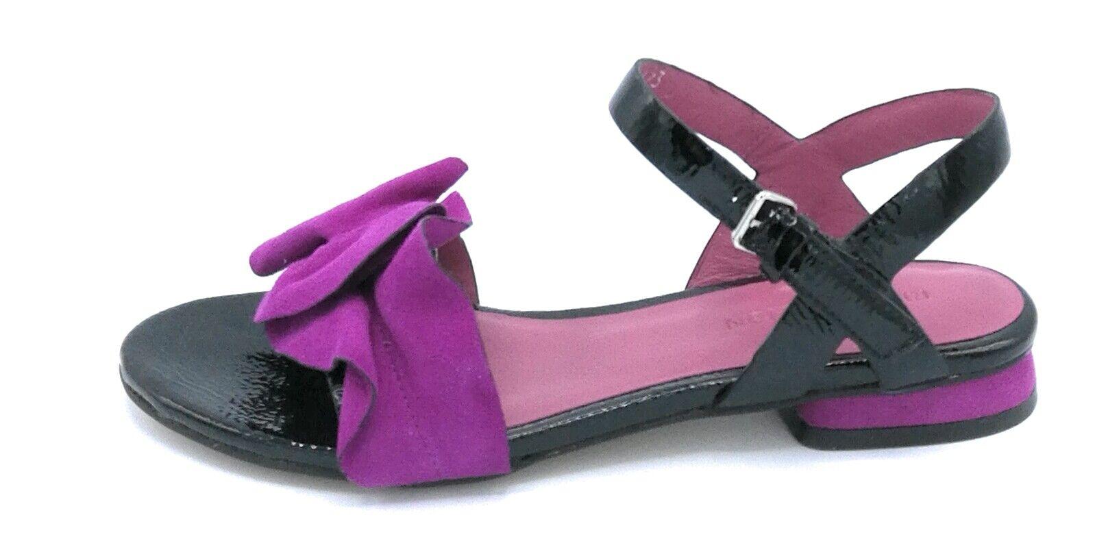 Zanon J5903 sandal naplak-suede black purple strap frappa