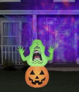 GEMMY-Ghostbusters-4-5ft-SLIMER-On-Pumpkin-Halloween-Airblown-Inflatable