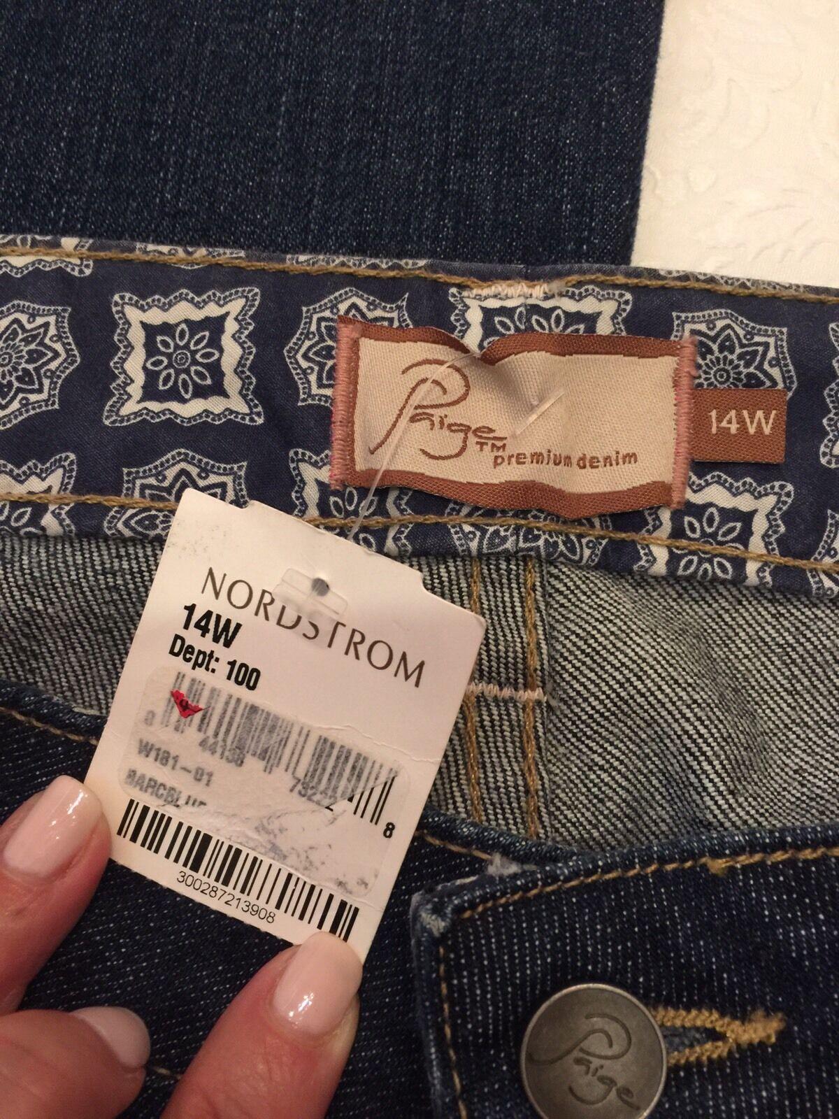 Paige bluee Jeans Tags Nordstroms 14W