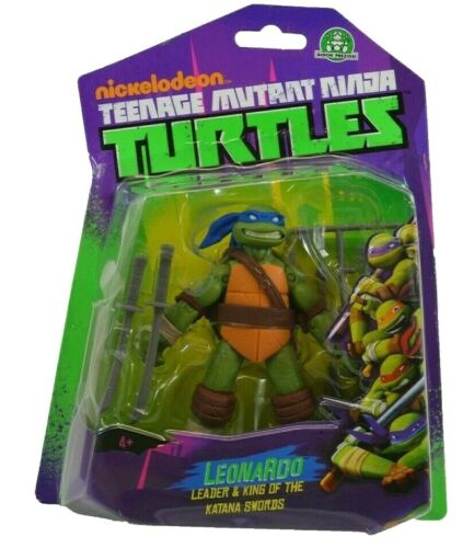 Teenage Mutant Ninja Turtles Teenage Mutant Ninja Turtles Leonardo Figure Comme neuf on Card 2013 GIOCHI PREZIOSI