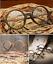 Unisex-Clear-Lens-Acetate-Wood-grain-Frame-Eyeglasses-Round-Retro-Glasses-Hot thumbnail 10