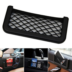 universal car seat side back storage net bag resilient holder pocket organizer ebay. Black Bedroom Furniture Sets. Home Design Ideas