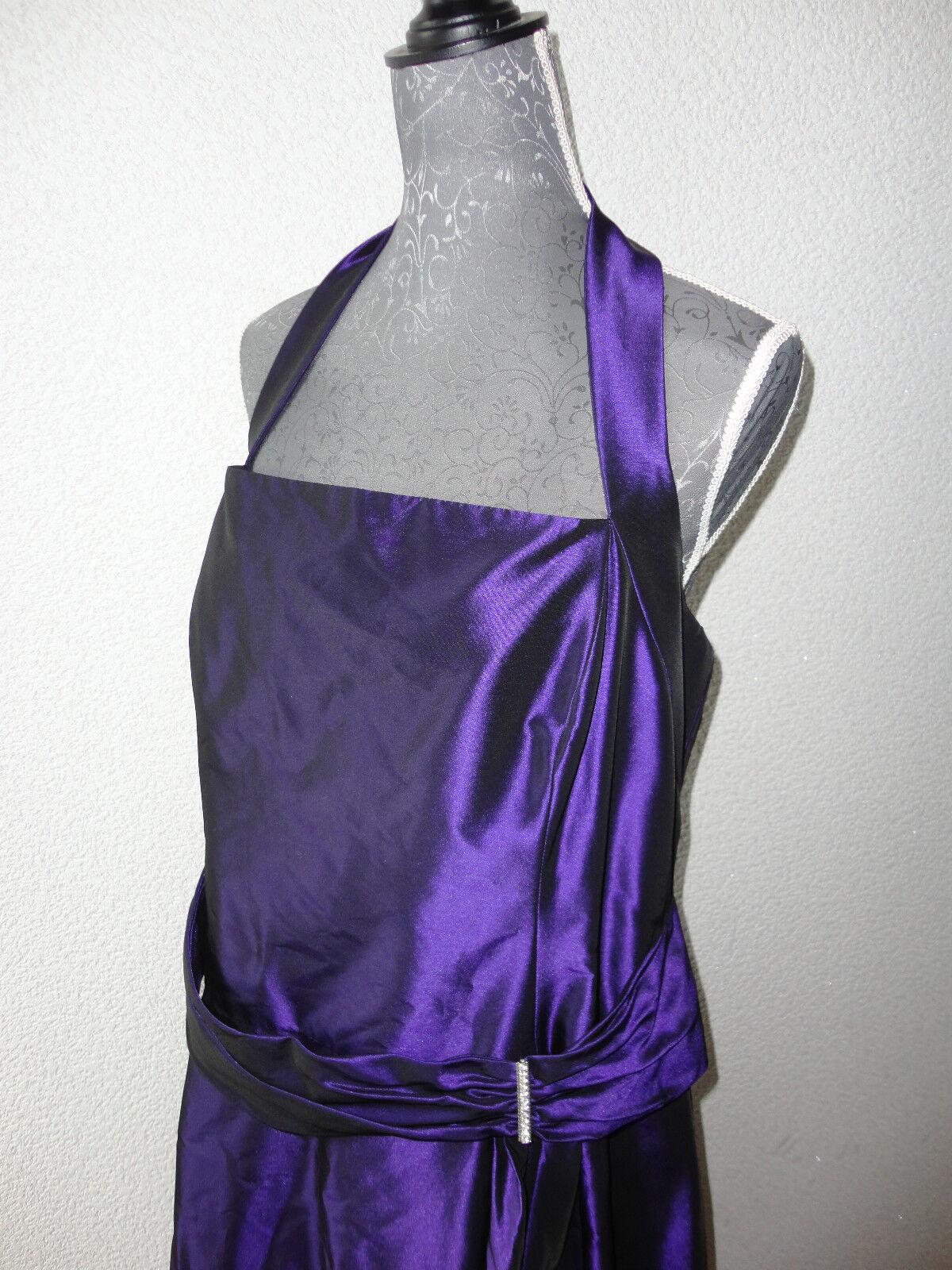 Sixth Sense Abendkleid Neckholder Kleid Maxikleid Gr.46 lilla wie NEU zu Jacke