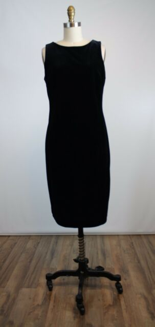 Teddi Evening Black Velvet Sleeveless Sheath Dress Size 8 New LBD