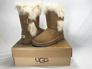 0866d29d12b Details about UGG DEENA TOSCANA FUR TRIM CUFF BOOT, CHESTNUT, WOMEN'S 6,  NEW IN BOX