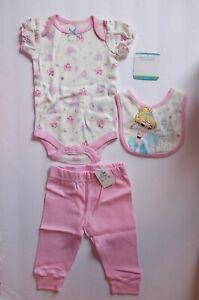 Disney-Baby-Cinderella-Girls-Size-3-6-Months-3-Piece-Outfit