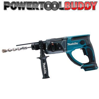 5pc SDS Set Makita DHR202Z SDS Rotary Hammer Drill 18volt Li-ion Cordless Body