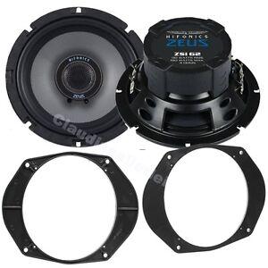 Hifonics-Zeus-Lautsprecher-165mm-amp-Ringe-fuer-Ford-Mondeo-ab-01-1993-Hecktueren