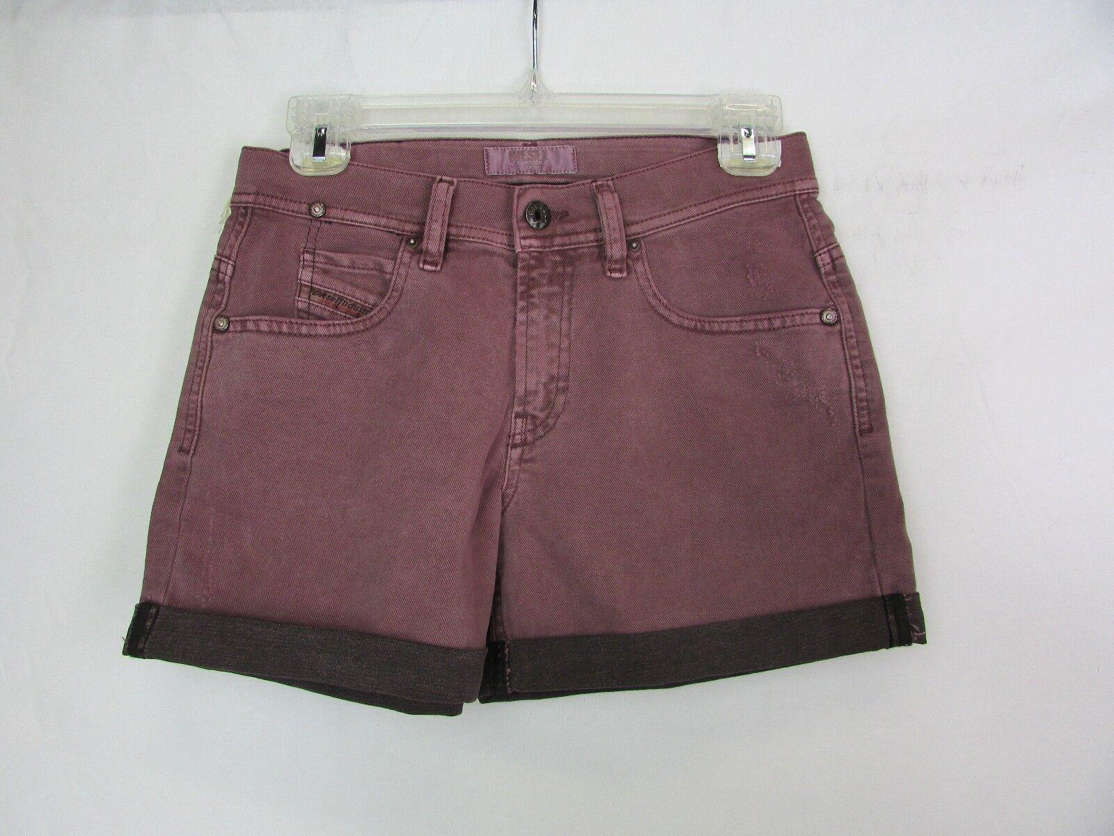 Diesel Women's Mauve ISI Shorts Size 24 MSRP  178